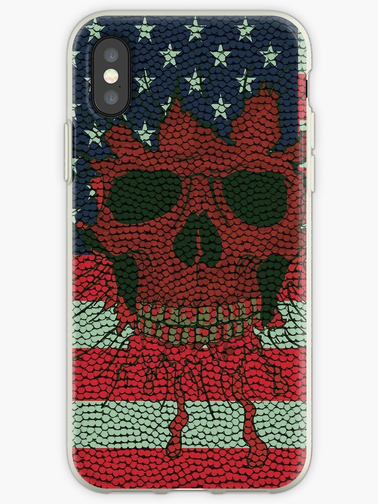 newest c96a3 35a44 'American Patriotic Skull Basketball Ball Skin Style iPod / iPhone 4 /  iPhone 5 Case / Samsung Galaxy Cases ' iPhone Case by CroDesign