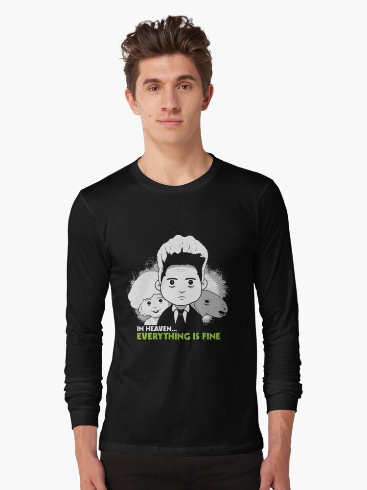 "Saturday Morning ""Eraserhead"" Long Sleeve T-Shirt Front"