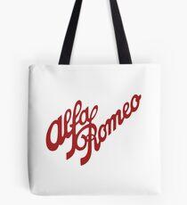 Alfa Romeo Script in RED Tote Bag