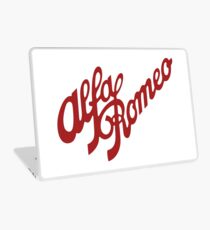 Alfa Romeo Script in RED Laptop Skin