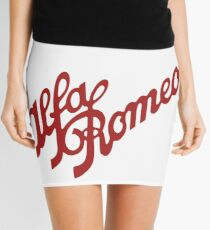 Alfa Romeo Script in RED Mini Skirt