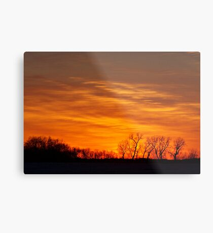 Prairie Flames Metal Print