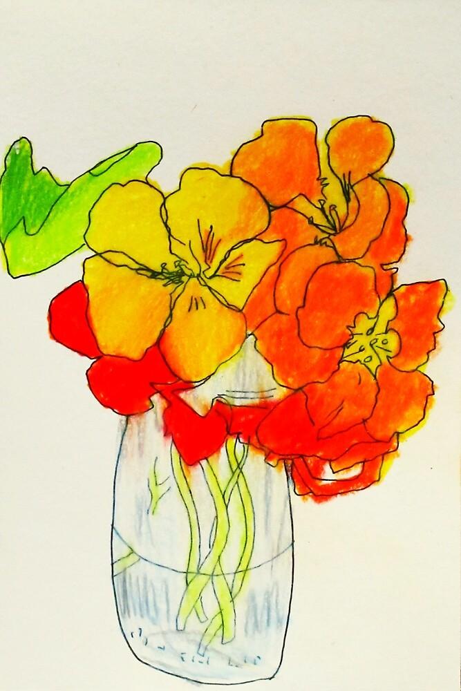 sweet Nasturtiums by donna malone