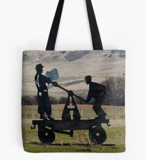 Gang Trolley Kempton Tasmania Tote Bag