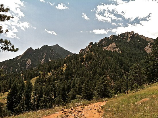 Side View of Flatirons  by GabrielleFrank