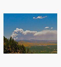Wildfire in Colorado Photographic Print