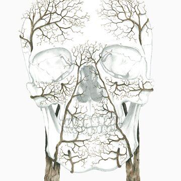 Winter Jacaranda Skull (no background) by jf901