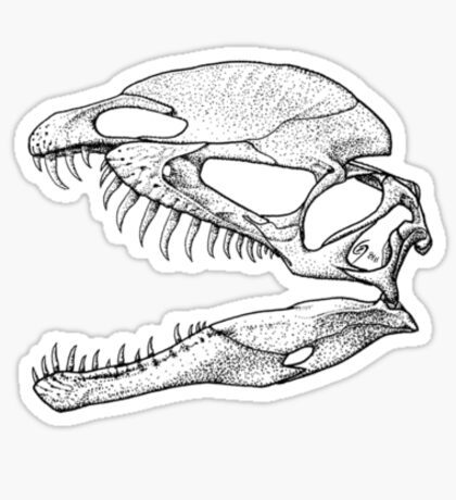 Dilophosaur on my Chest! 2 Sticker