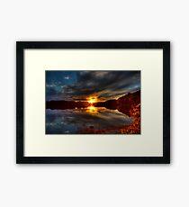 Lake of Glass Framed Print