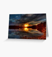 Lake of Glass Greeting Card