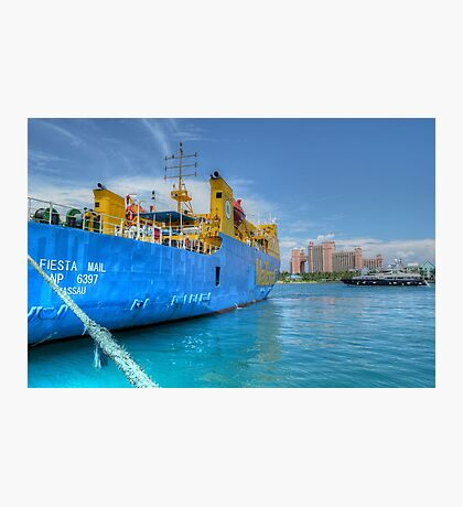 Mailboat Ferry docked at Potter's Cay in Nassau, The Bahamas Photographic Print