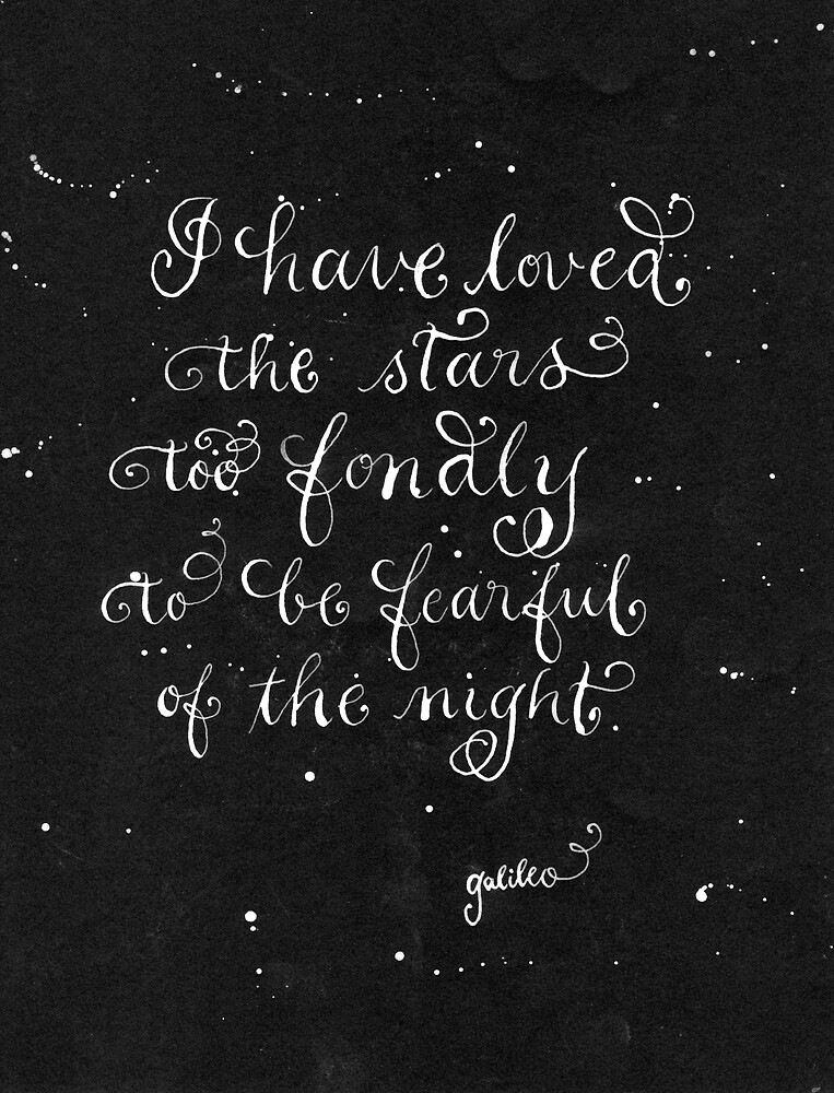 Loved the stars handwritten quote by Melissa Renee
