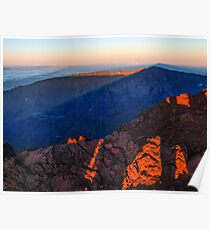 The morning light at Piton des Neiges Poster