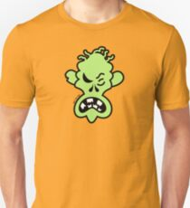 Angry Halloween Zombie Slim Fit T-Shirt