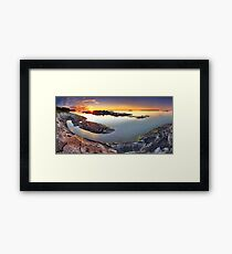 Sunset from Dunk's Point in Tobermory Framed Print