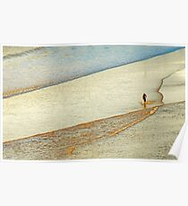 "Shore Surfing, skim surfing on the shallow waves on the beach at ""Avila Beach"" California Poster"