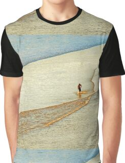 """Shore Surfing, skim surfing on the shallow waves on the beach at """"Avila Beach"""" California Graphic T-Shirt"""