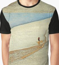 "Shore Surfing, skim surfing on the shallow waves on the beach at ""Avila Beach"" California Graphic T-Shirt"