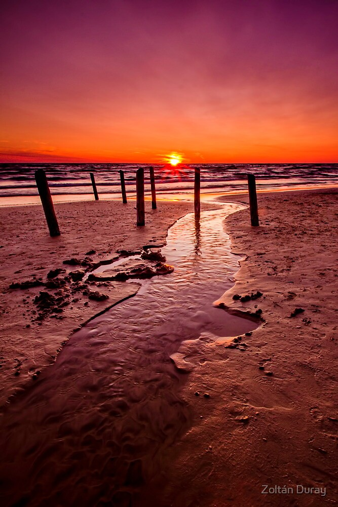 Sunset on the Lake Huron by Zoltán Duray