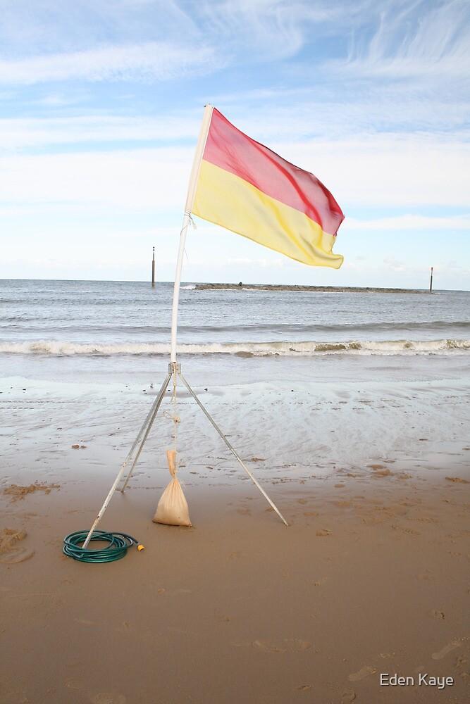 flag the beach by Eden Kaye