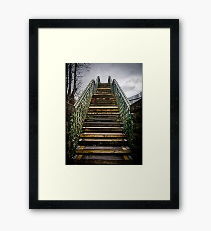 Staircase into the Sky? Framed Print
