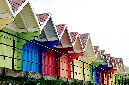Beach Huts, Scarborough by Andrew Robinson