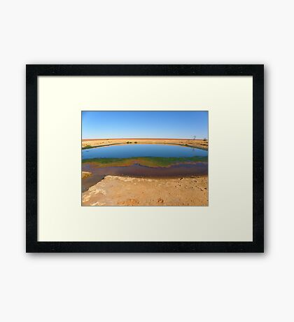 Waterhole on the way to Lake Ayes Framed Print