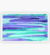 Watercolor Hand Painted Purple Turquoise Abstract Background Transparent Sticker