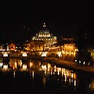 St Peter's, Rome, at Night by babibell