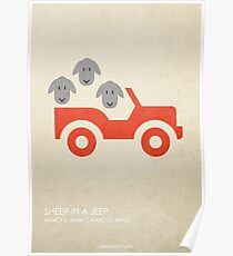 Sheep in a Jeep Poster