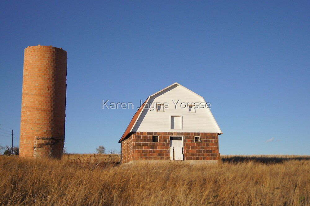 Red Barn, Blue Sky by Karen Jayne Yousse