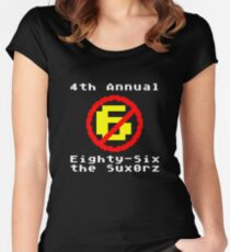 4th Annual Eighty-Six the Sux0rz Women's Fitted Scoop T-Shirt