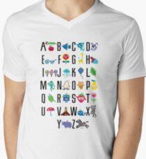Alphabet Cute  Men's V-Neck T-Shirt