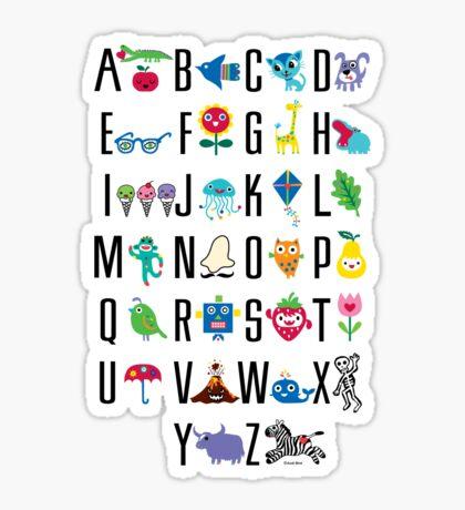 Alphabet Cute  Sticker
