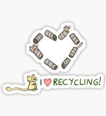 Gerbils Love Recycling Sticker