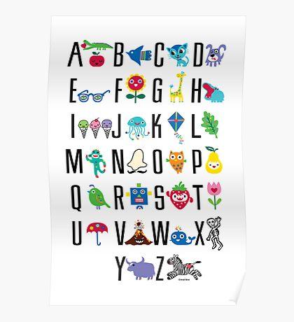 Alphabet Cute  Poster