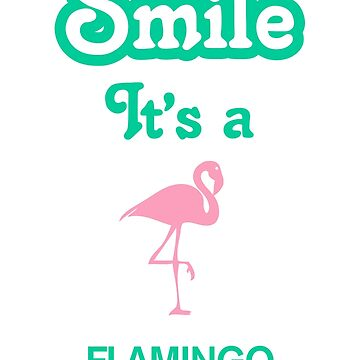 Smile it's a FLAMINGO by SmileitsaShirt
