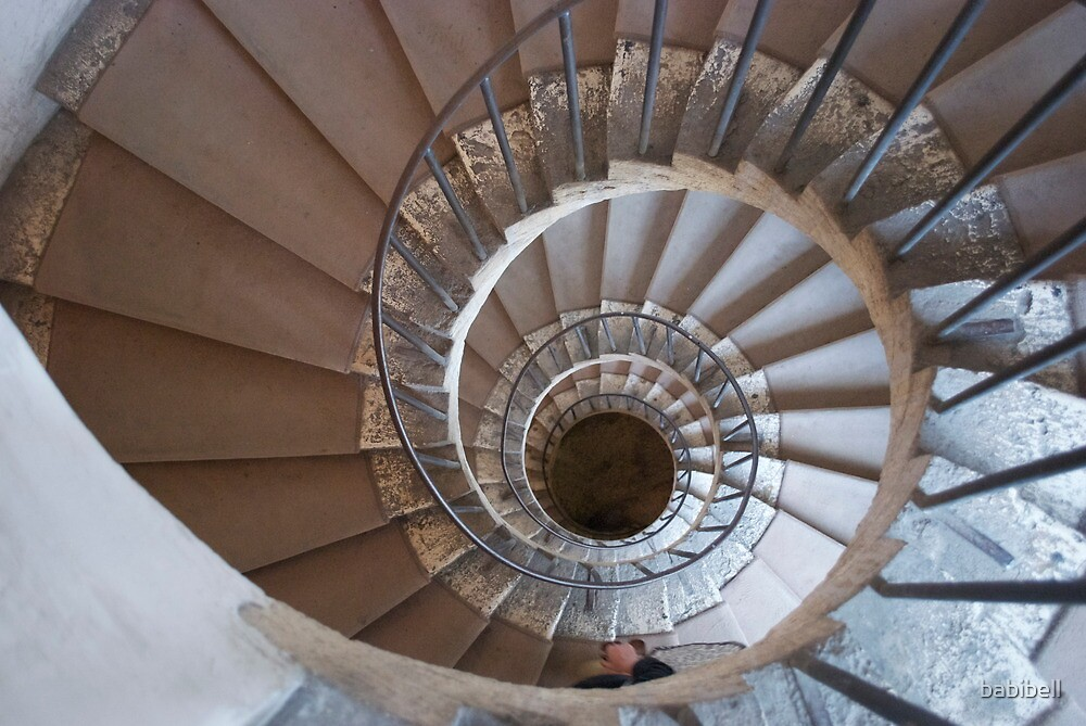 Villa d'Este Spiral Staircase by babibell