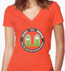 Vote Kang - Kodos '12 Women's Fitted V-Neck T-Shirt