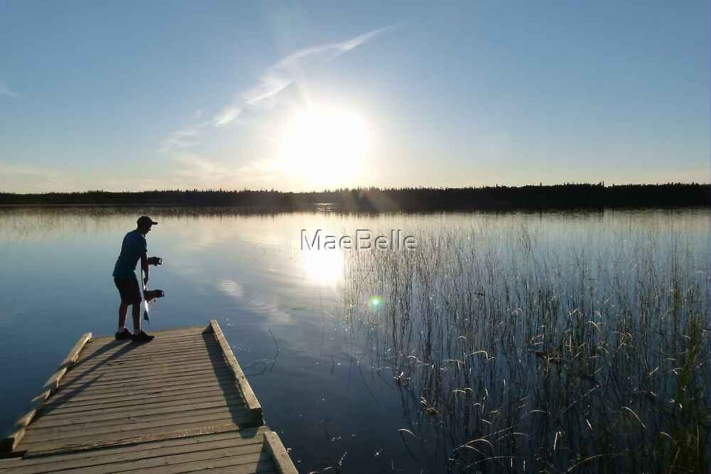 Getting Ready  to Wake Board by MaeBelle