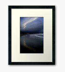 Summer lingers; tourists gone: Narragansett Framed Print