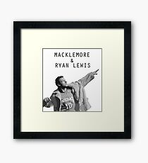 Macklemore and Ryan Lewis Inspired design UK Tour 2015 Framed Print