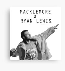 Macklemore and Ryan Lewis Inspired design UK Tour 2015 Canvas Print