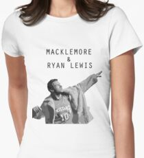 Macklemore and Ryan Lewis Inspired design UK Tour 2015 Women's Fitted T-Shirt