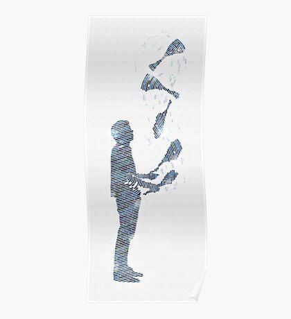 Tiled Juggler Poster