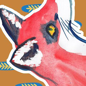 Mr Foxy iPhone case by pondicherrybaby