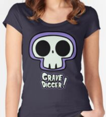 Grave Logo Women's Fitted Scoop T-Shirt