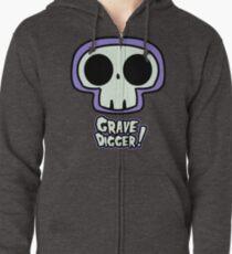 Grave Logo Zipped Hoodie