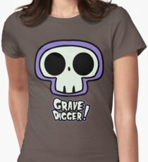 Grave Logo Women's Fitted T-Shirt