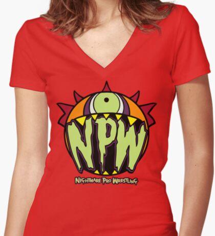 Nightmare Pro Wrestling - Logo  Women's Fitted V-Neck T-Shirt